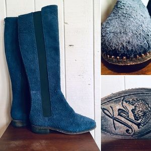 Free People Blue Suede Boots 💙